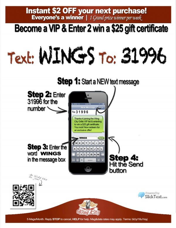 text to join for text message marketing