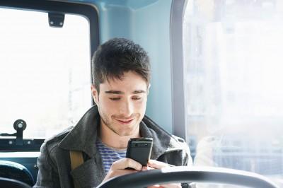 Man receiving SMS Marketing message